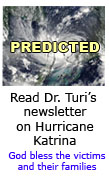 Dr. Turi's Prediction of Hurricane Katrina