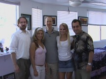 Sean Fisher (center) with Morgan, Missy and the crew of Metaphysia