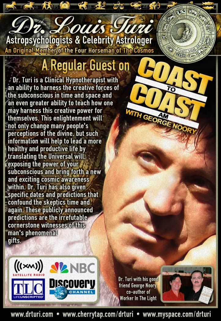 Special George Noory Dr  Turi Predictions on Coast To Coast am – Dr