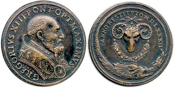 2Pope Gregory XIII Aries